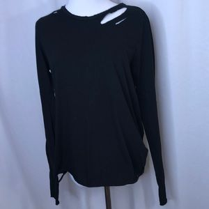n:Philanthropy Leah cotton distressed L/S tee-Med